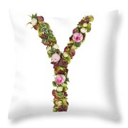 Capital Letter Y Throw Pillow