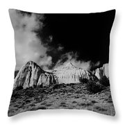 Capital Reef National Park In Black And White  Throw Pillow