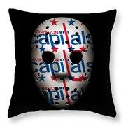 Capitals Goalie Mask Throw Pillow