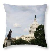 Capitol And Statue Washington Dc Throw Pillow