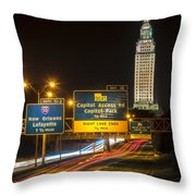 Capitol Area Access Road Throw Pillow