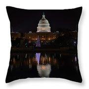 Capitol Christmas - 2012 Throw Pillow