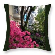 Capitol Hill Azaleas Throw Pillow