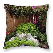 Capitol Hill Patio Garden Throw Pillow