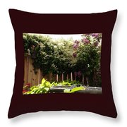 Capitol Hill Secret Garden Throw Pillow
