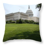 Capitol Hill View Washington Dc Throw Pillow
