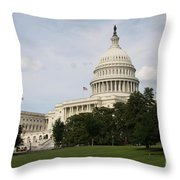 Capitol Hill Washington Dc Throw Pillow