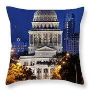 Capitol Of Texas Throw Pillow
