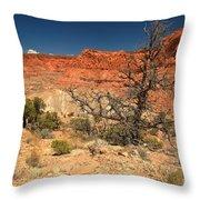 Capitol Reef Cliffs Throw Pillow