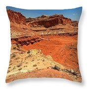 Capitol Reef Colorful Landscape Throw Pillow