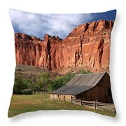 Capitol Reef Homestead Throw Pillow