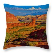 Capitol Reef Landscape Throw Pillow
