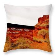 Capitol Reef N P Throw Pillow