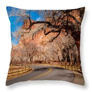 Capitol Reef Scenic Drive Throw Pillow