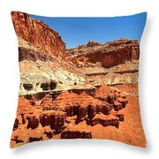 Capitol Reef Twin Towers Throw Pillow