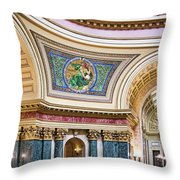 Capitol - Madison - Wisconsin Throw Pillow