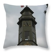Thunderstorm Clouds Over Capitol Tower Throw Pillow