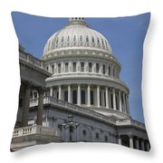 Capitol Washington Dc Steps And Stairs Throw Pillow