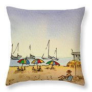 Capitola - California Sketchbook Project  Throw Pillow