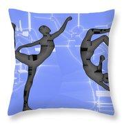 Capoeira 2 Throw Pillow