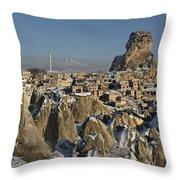 Cappadocia In Winter Throw Pillow