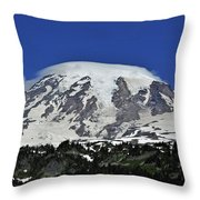 Capped Rainier Up Close Throw Pillow