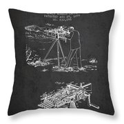 Capps Machine Gun Patent Drawing From 1899 - Dark Throw Pillow