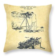 Capps Machine Gun Patent Drawing From 1899 - Vintage Throw Pillow