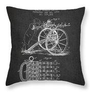 Capps Machine Gun Patent Drawing From 1902 - Dark Throw Pillow