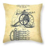 Capps Machine Gun Patent Drawing From 1902 - Vintage Throw Pillow