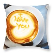 Cappuccino Throw Pillow by Fabrizio Troiani
