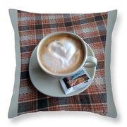 Cappuccino Love Throw Pillow