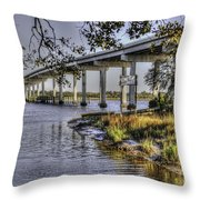 Cappy's By Water Throw Pillow