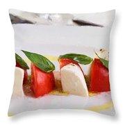 Caprese Mozzarella And Tomatoes Throw Pillow