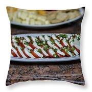 Caprese Salad Throw Pillow