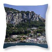 Capri Italy Throw Pillow