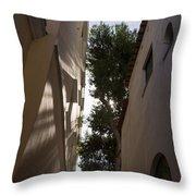 Capri - The Mediterranean Sun Painting Playful Shadows On Facades Throw Pillow