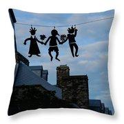 Capricious Quebec City Canada Throw Pillow