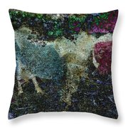 Capricorn Abstract Throw Pillow