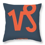Capricorn Zodiac Sign Orange Throw Pillow