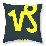 Capricorn Zodiac Sign Yellow Throw Pillow by Naxart Studio