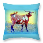 Come And See The Capricorny World Before It Disappears  Throw Pillow