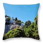 Capri's Gardens Throw Pillow
