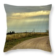 Caprock Canyon-country Road Throw Pillow