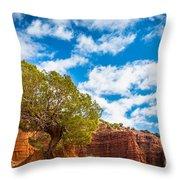 Caprock Canyon Tree Throw Pillow