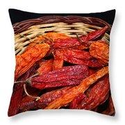 Capsicum Baccatum Chilis Throw Pillow