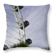 Capsules And Structure Of The Singapore Flyer Along With The Spokes Throw Pillow