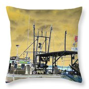 Capt. Jamie - Shrimp Boat - Photopower 01 Throw Pillow