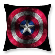 Captain America Shield Throw Pillow