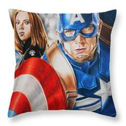 Captain America Winter Soldier Throw Pillow
